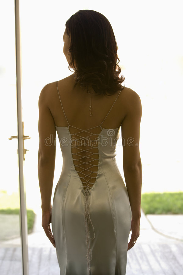 Back of an attractive woman. stock photos