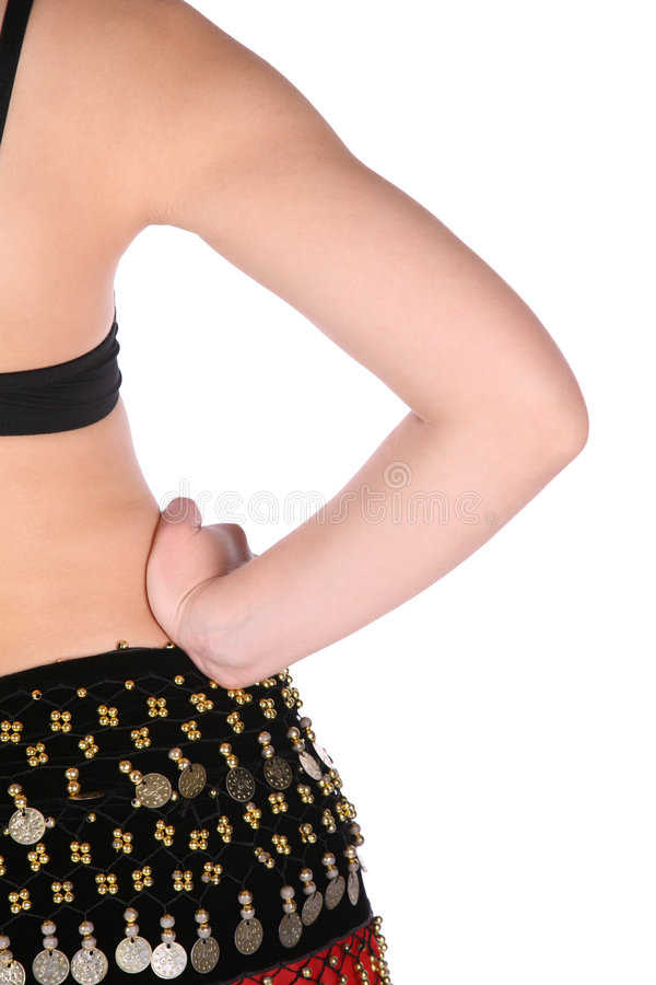 Back bellydance royalty free stock photo