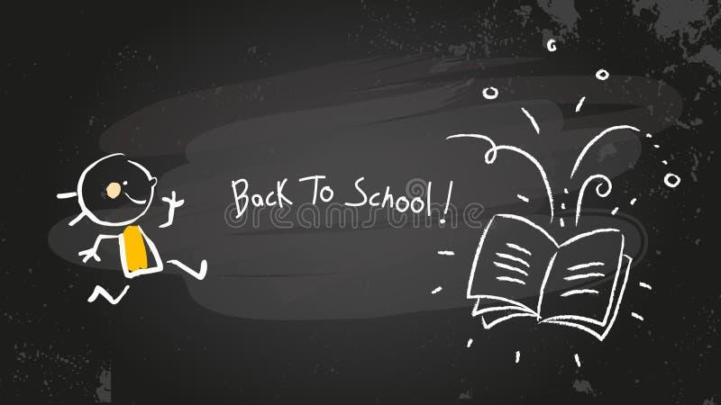 back blackboard school to 皇族释放例证