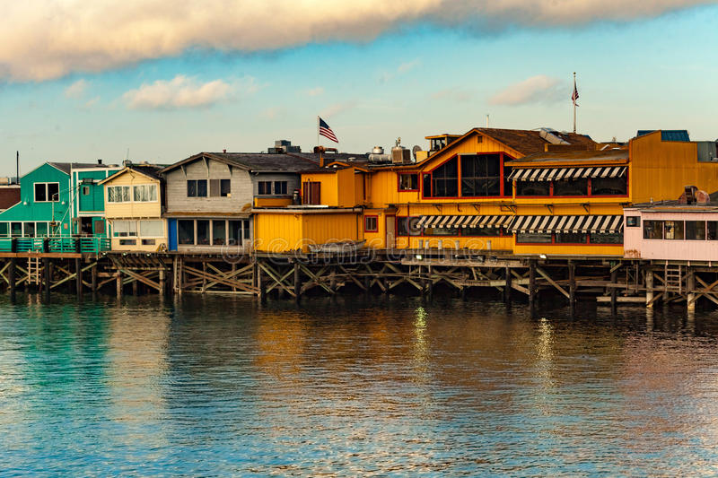 Back of the boardwalk Monterey stock photography
