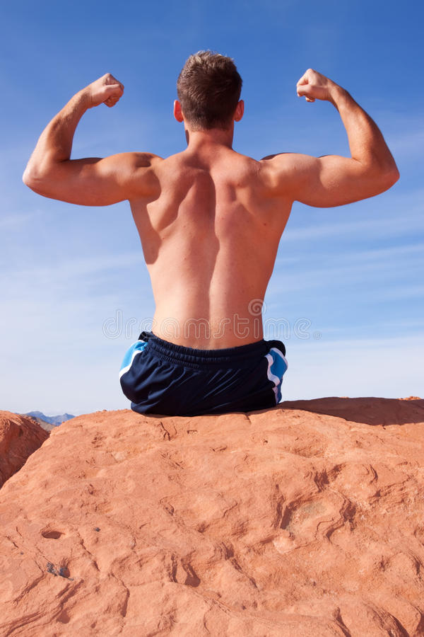 Download Back of a body builder stock photo. Image of young, sandstone - 13205106