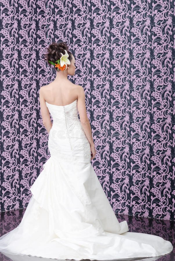 Back of the bride royalty free stock image