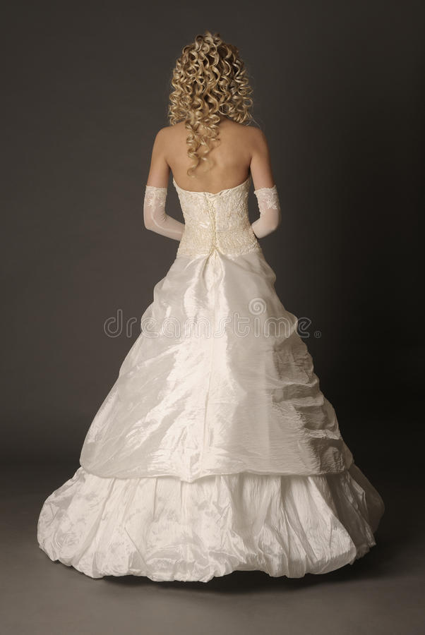 Download Back Of Bride In Wedding Dress. Stock Image - Image: 19035521