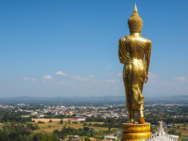 Back of buddha statue royalty free stock photos