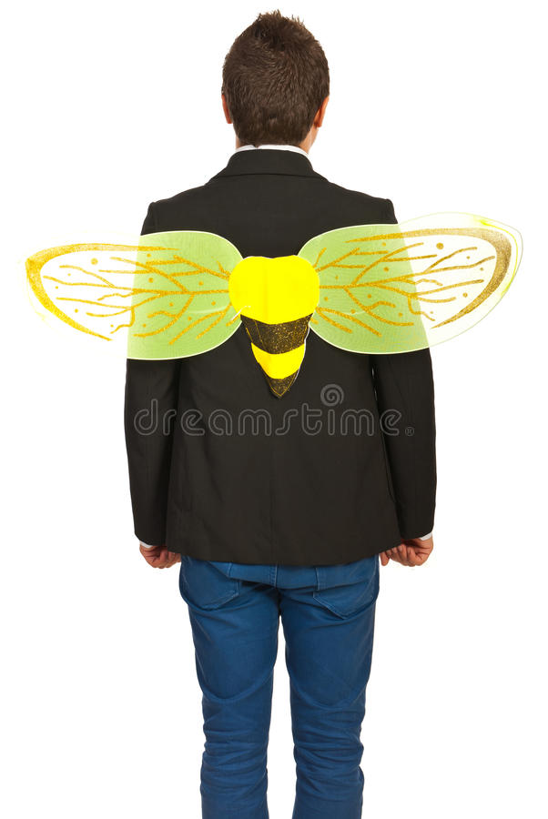 Download Back Of Businessman Busy Like A Bee Royalty Free Stock Image - Image: 27563366