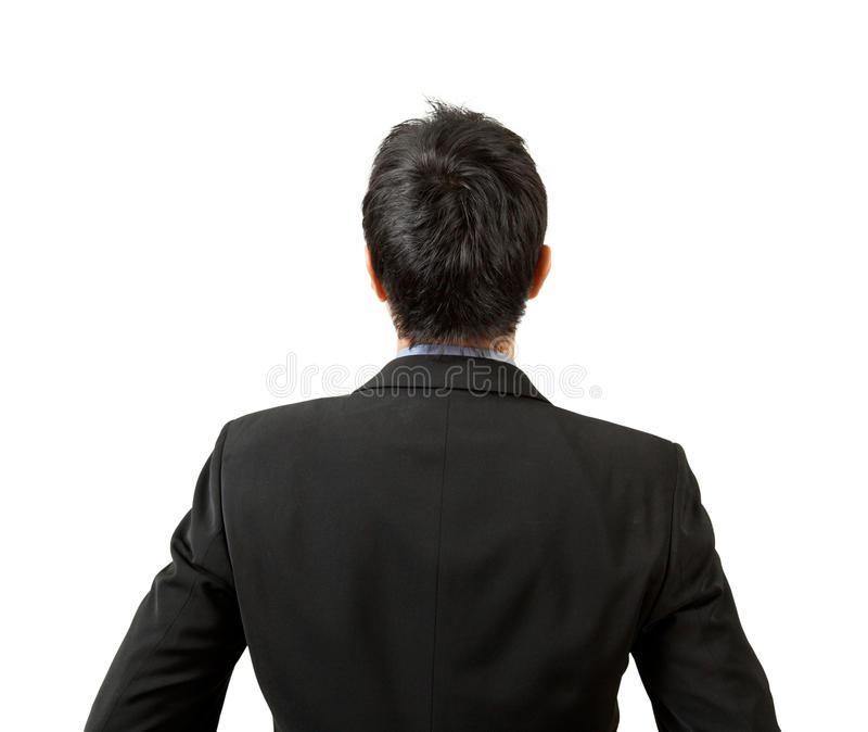 Back of businessman looking royalty free stock photo