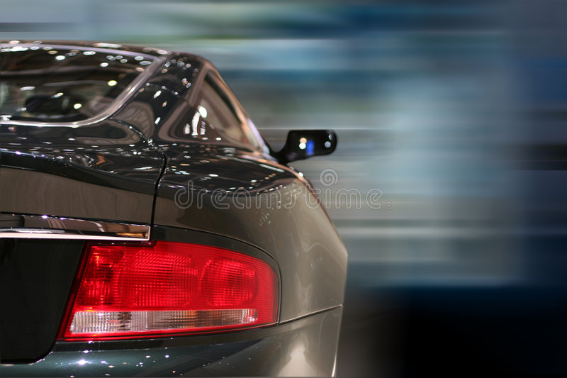 Back of a car royalty free stock photography