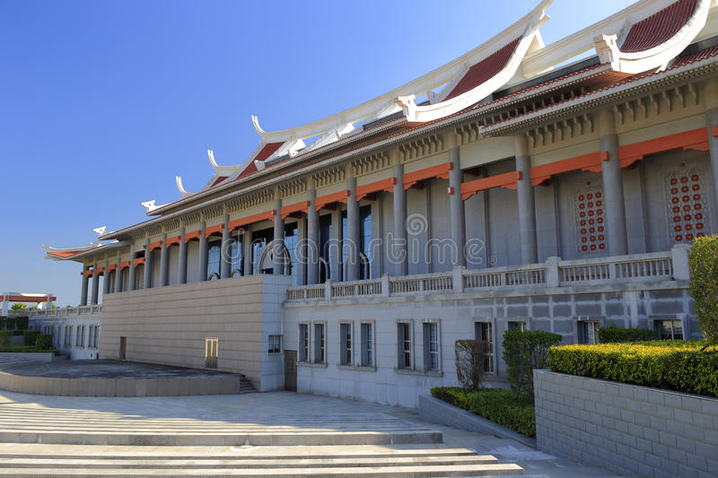 Back of chen jiageng memorial hall. Chenjiageng memorial museum in jimei, amoy city, china stock images