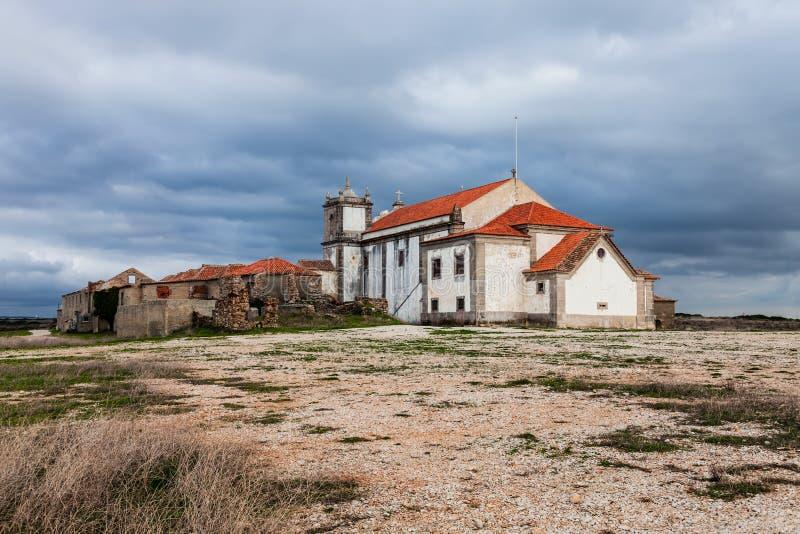 Back of the Church of Santuario de Nossa Senhora do Cabo or Pedra Mua Sanctuary. stock image