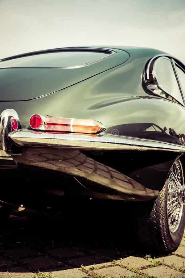 Back of classic automobile royalty free stock images