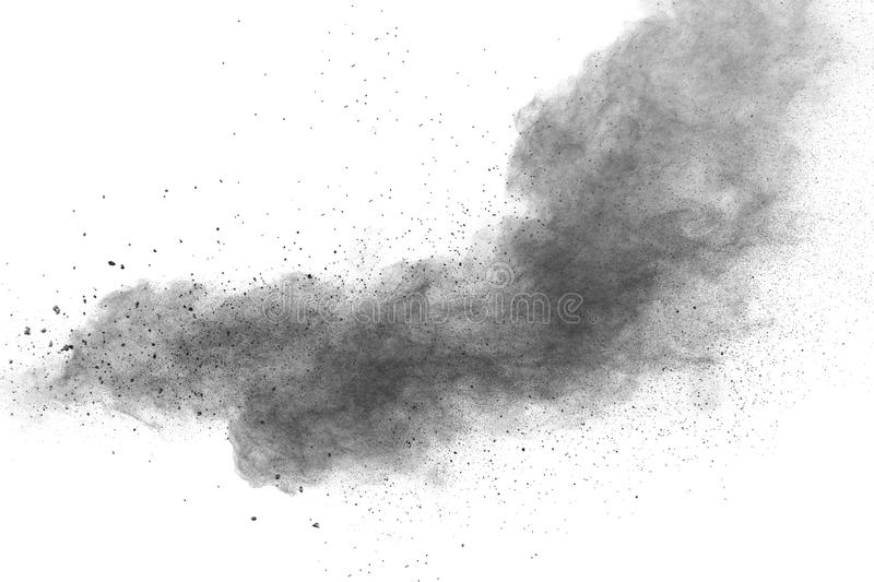 Back dust particle splash on background. royalty free stock photos