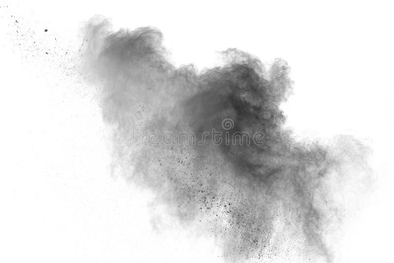 Back dust particle splash on background. stock photo