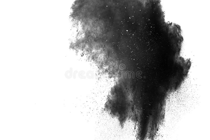 Back dust particle splash on background. stock images