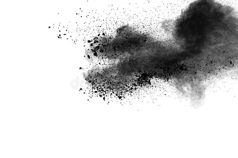Back dust particle splash on background. royalty free stock images