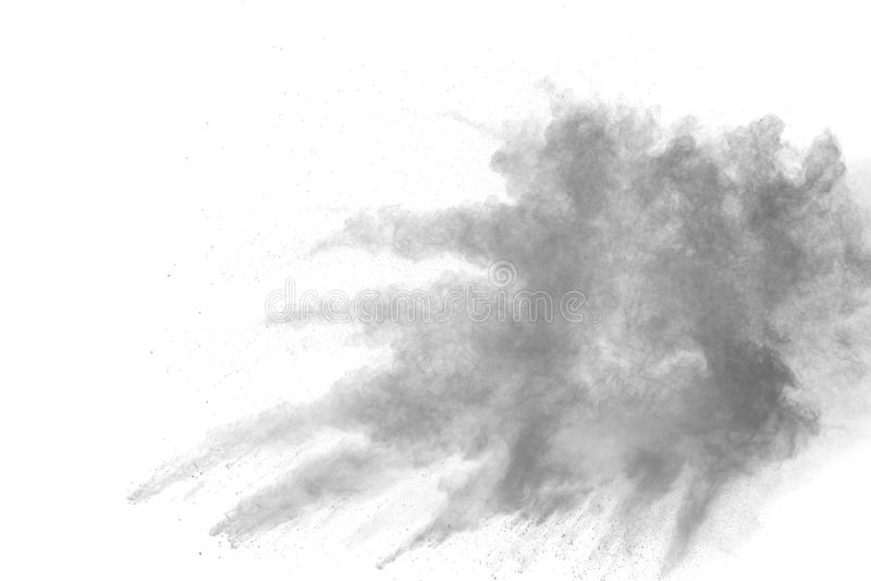 Back dust particle splash on background. stock images