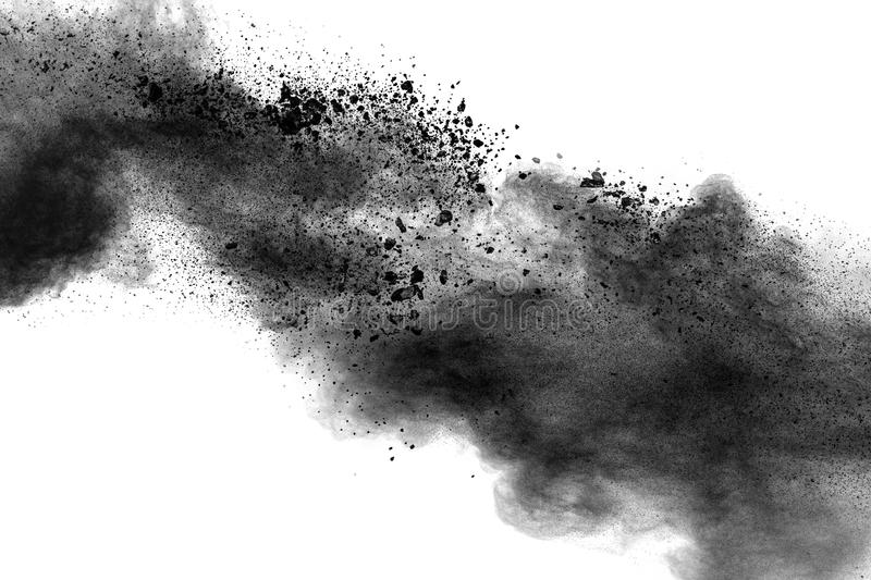 Back dust particle splash on background. royalty free stock photography