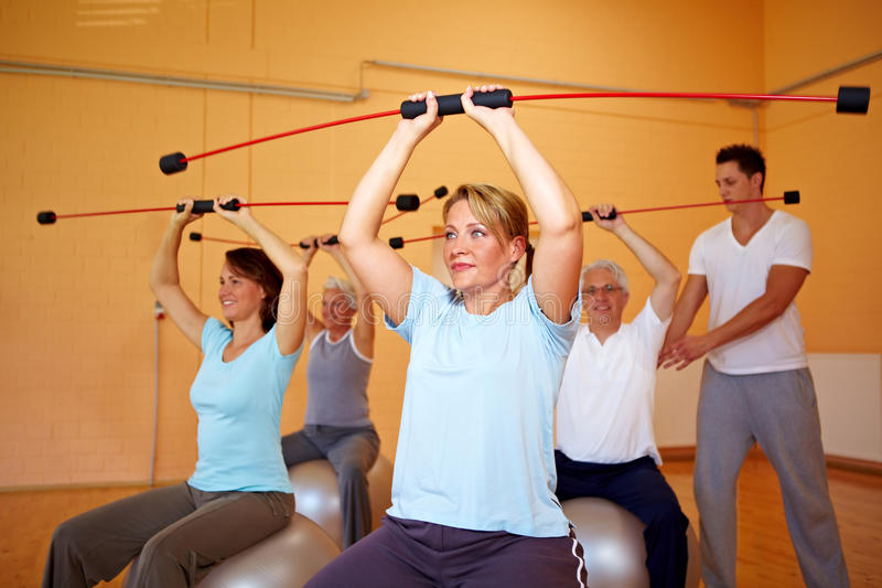 Download Back Exercises With Flexibar Stock Image - Image: 16786357