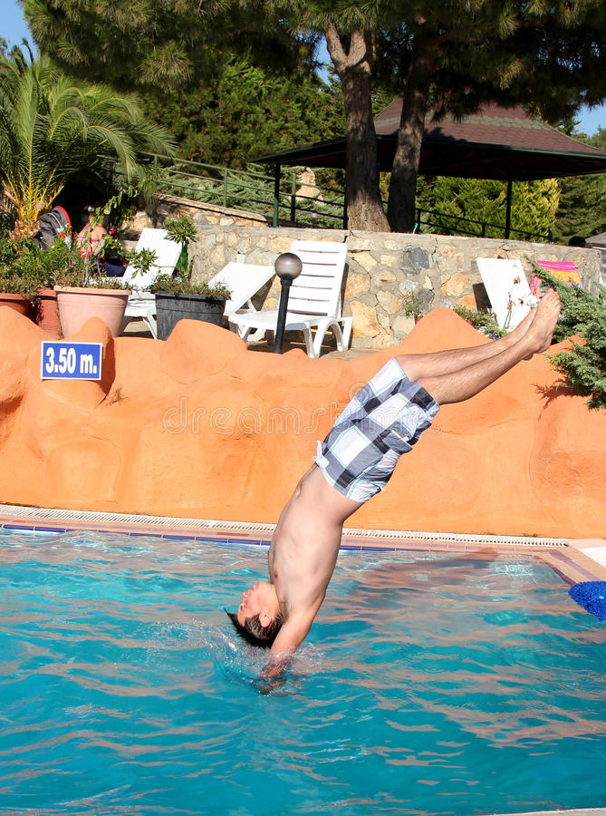 Download Back flip stock photo. Image of dive, body, determination - 26324816