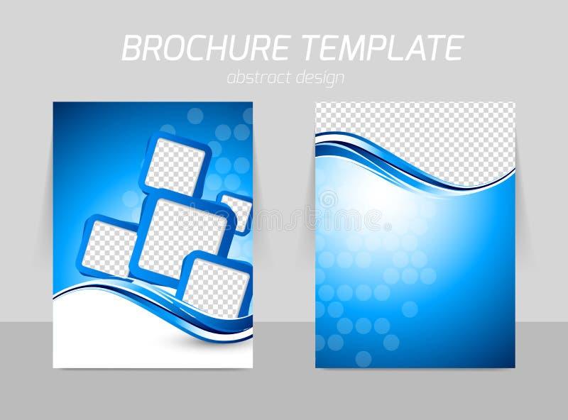 Back and front flyer template design stock illustration