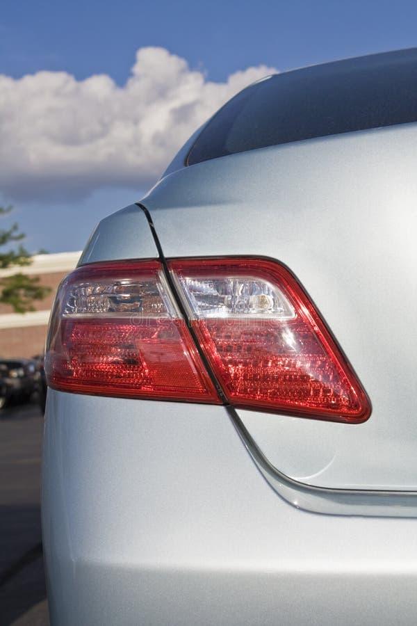 Back of Hybrid car stock photography