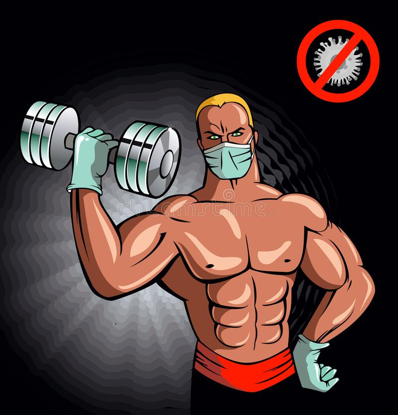 Free Back In Shape... With Masks Royalty Free Stock Image - 215668806