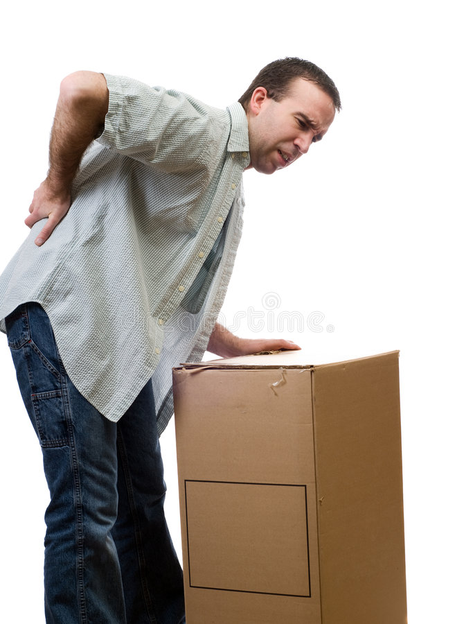 Download Back Injury stock photo. Image of pain, casual, lifting - 8048686