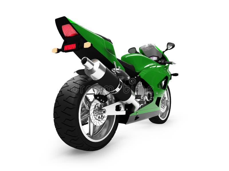 back isolerad motorcykelsikt royaltyfri illustrationer