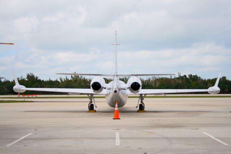 Back of jet plane royalty free stock photo