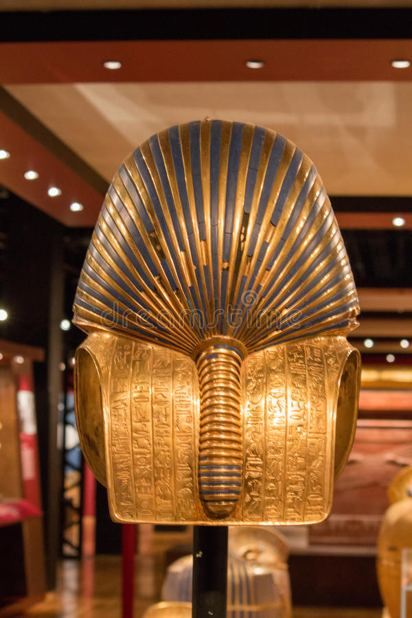 Back of King Tut's Death Mask. Detailed photo of the back of King Tut's Death Mask royalty free stock photos