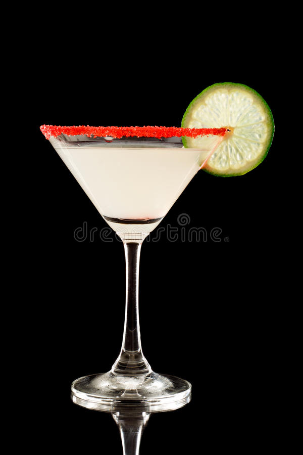 Free Back Lit Key Lime Martini With Red Sugar Stock Photography - 23516922