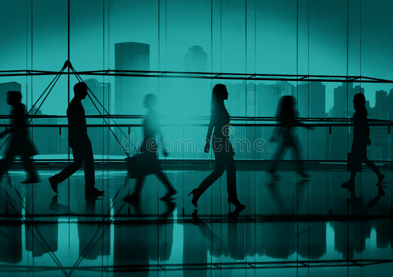 Back Lit People Walking Mall Cityscape Shopaholic Concept royalty free stock photography