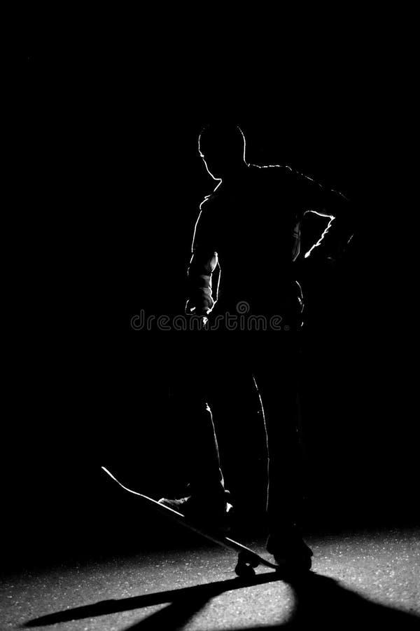 Back Lit Skateboarder Silhouette