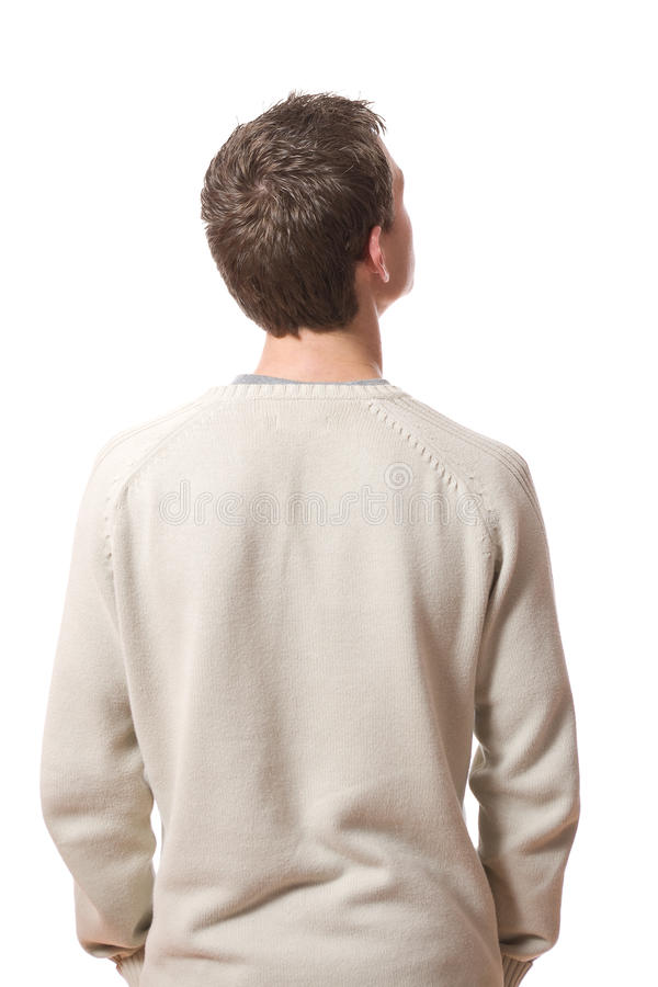 Back of man stock image