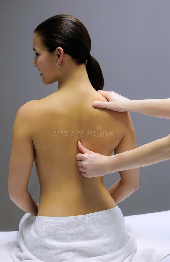 Back Massage Stock Photography