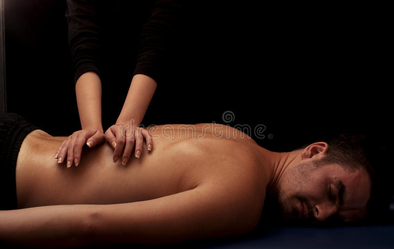 Back massage royalty free stock image