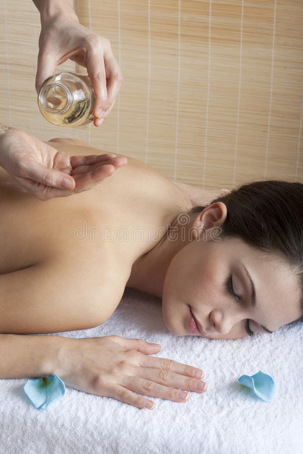 Download Back Massage with Oil stock photo. Image of comfortable - 15144110