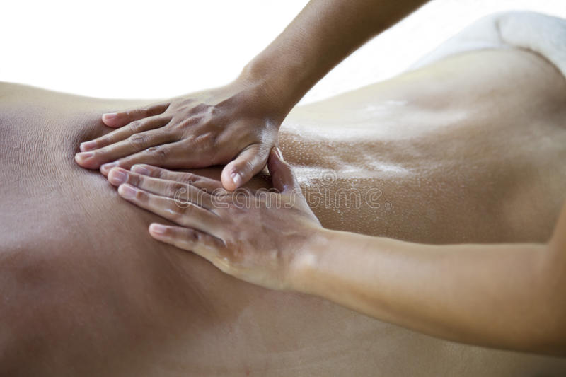 Back massage royalty free stock photos