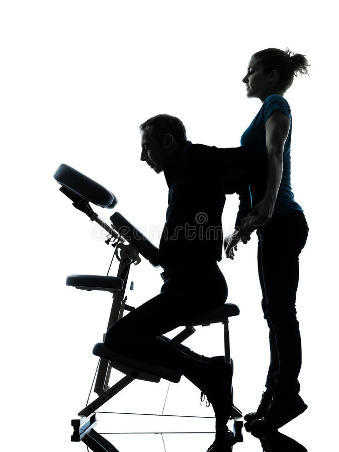 Download Back Massage Therapy With Chair Stock Image - Image: 28755223
