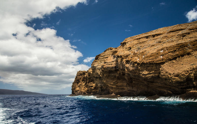 Back of Molokini Crater royalty free stock images