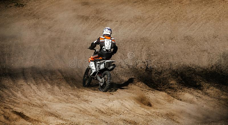 back motocross rider stock photography
