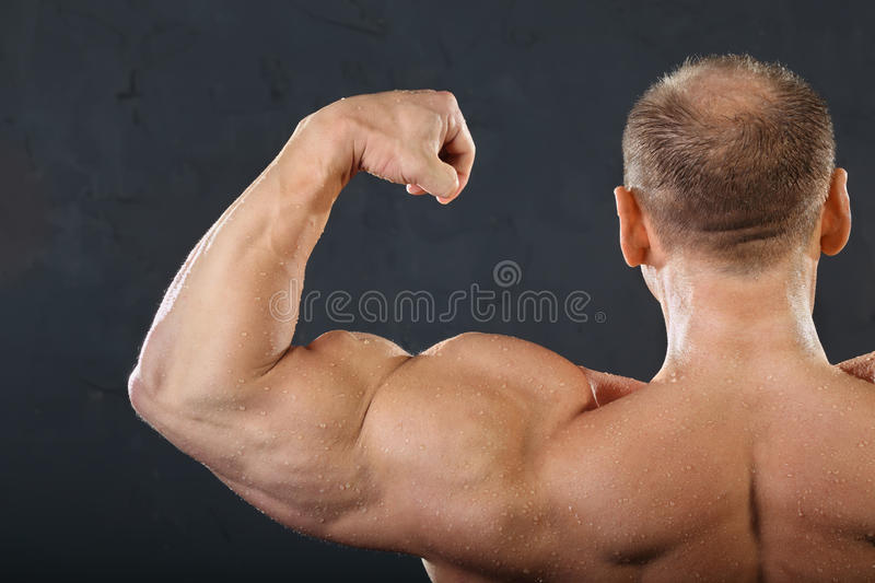 Back Neck And Hand Muscles Of Bodybuilder Stock Photo Image Of