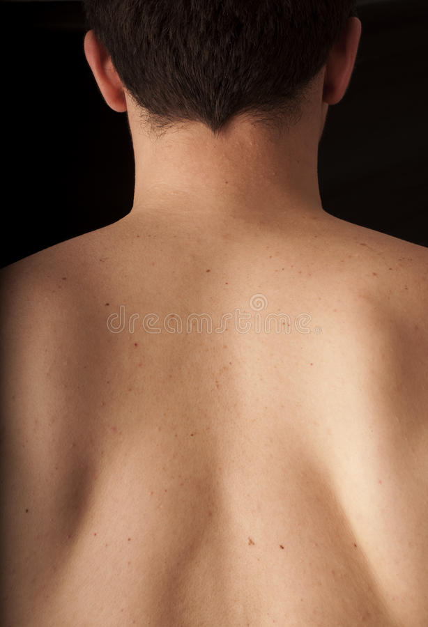 Back of the neck royalty free stock photography