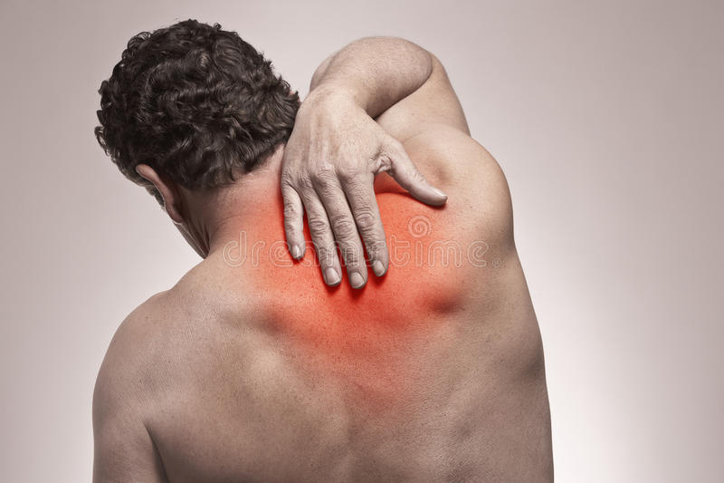 Back pain stock photography