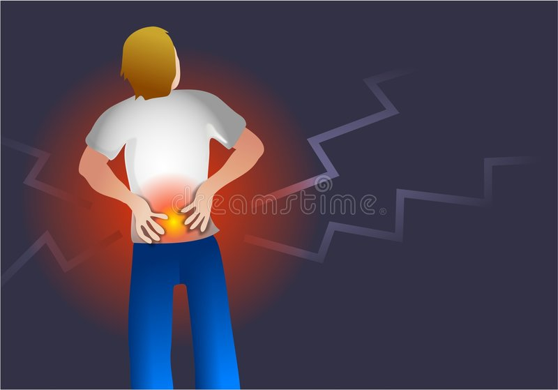 Back Pain royalty free illustration