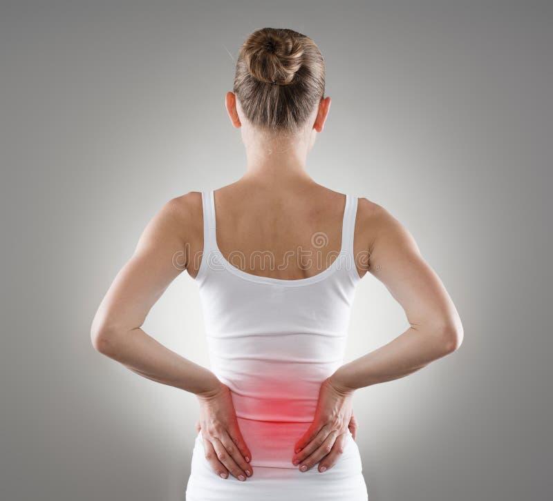 Back pain royalty free stock photos