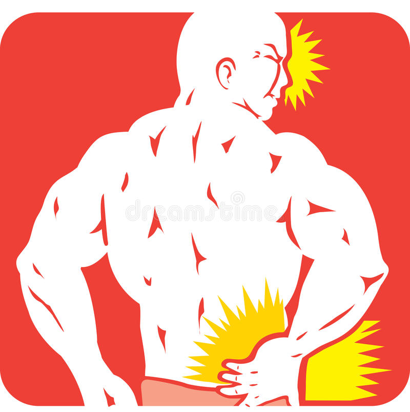 Back Pain Icon Royalty Free Stock Photos