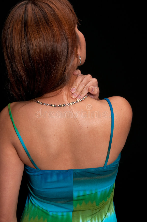 Download Back Pain Massage stock image. Image of backache, girl - 9170589