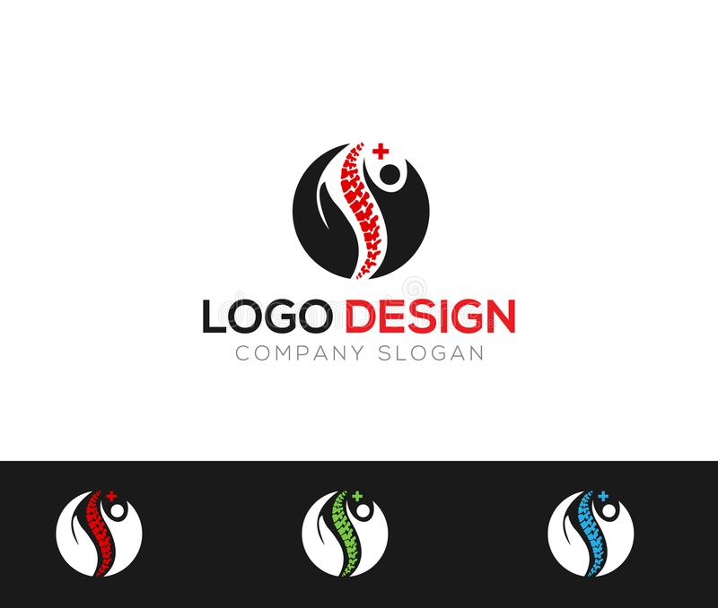 Back Pain Medical Logo Template online store vectors illustration vector illustration
