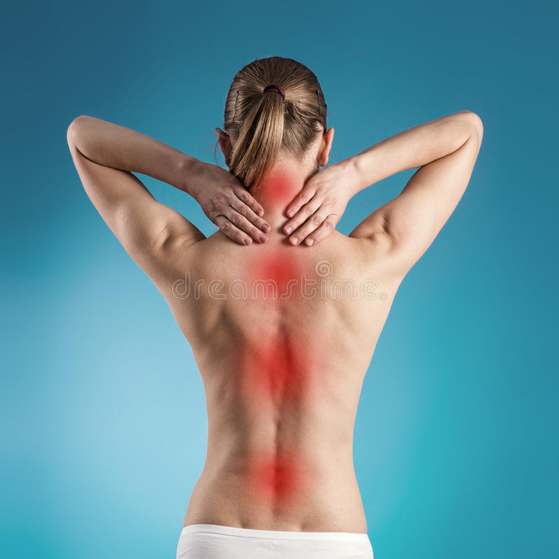 Back pain royalty free stock photos