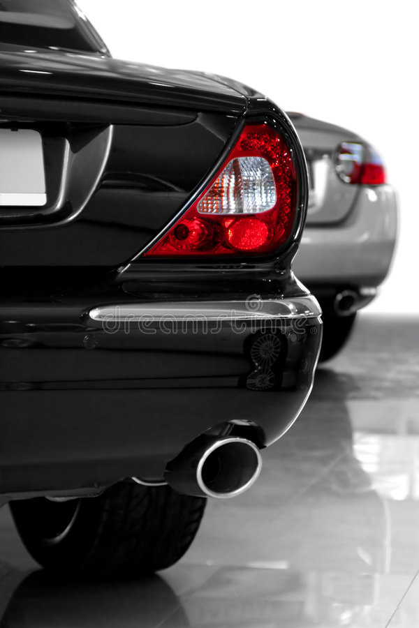 Download Back part car stock image. Image of exhaust, silver, metallic - 2608747